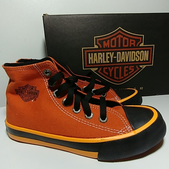 Harley-Davidson Other - 💥💛Youth HARLEY DAVIDSON high top Sneakers NEW💥